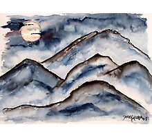 Mountains at Night Photographic Print