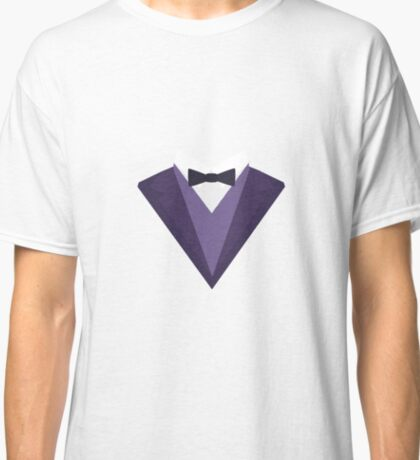 Violet Tuxedo Suit with bow tie R67ze Classic T-Shirt