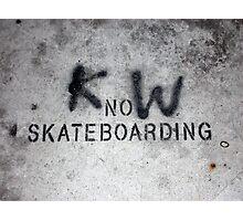 KnoW skateboarding Photographic Print