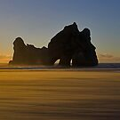 Sunset at Wharariki Beach by Robyn Carter
