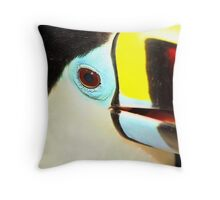 Closeup of a Red-billed Toucan at Iguassu, Brazil.  Throw Pillow