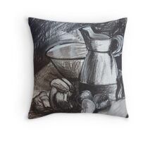 Still Life in Charcoal Throw Pillow