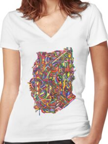 color cluster Women's Fitted V-Neck T-Shirt