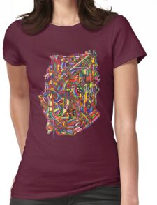 color cluster Womens Fitted T-Shirt