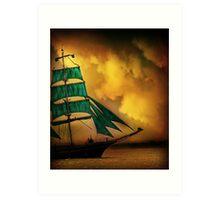 Emerald Sails Art Print