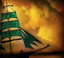 Emerald Sails by PhotoDream Art