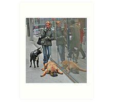 Another Doggone Phone Call Art Print