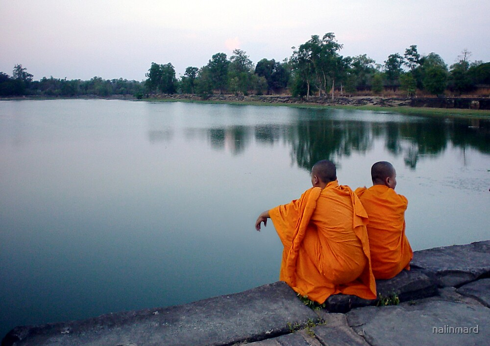 Monks At Angkor by nalinmard