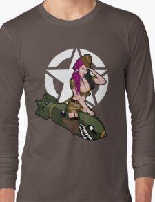 Army Punk Pin Up Long Sleeve T-Shirt