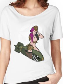 Army Punk Pin Up Women's Relaxed Fit T-Shirt