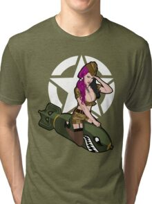 Army Punk Pin Up Tri-blend T-Shirt