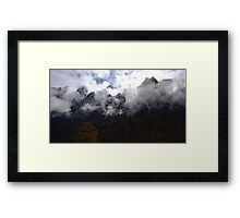 the mountain in two season (2) Framed Print