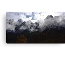 the mountain in two season (2) Canvas Print