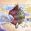 The hot air balloon city! by Luca Massone  disegni