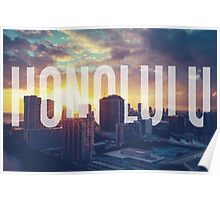 Retro Filtered Honolulu Poster