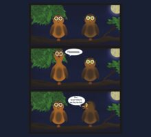 The boring adventures of Hoot and Hooty.  by SketchRaven
