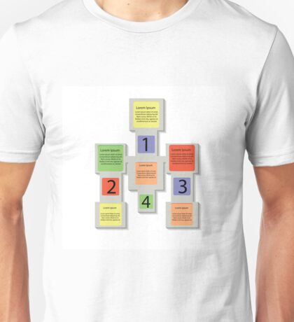 abstract square info graphic business elements Unisex T-Shirt