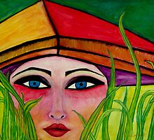 Rice Paddy Girl  by funkyfacestudio