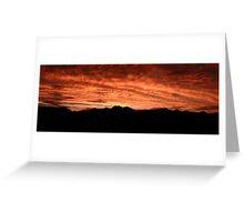 Desert Sunset In Red Greeting Card