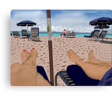 Faux Miami Beach Canvas Print