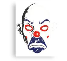 Joker Bank Robber Mask Canvas Print