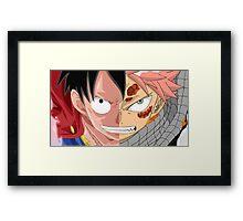 Luffy VS Natsu Framed Print