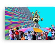 The Rainbow Trampoline Canvas Print