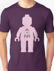 Minifig with Rocket Ship Unisex T-Shirt