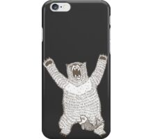 Roaring Bear (Ink) iPhone Case/Skin