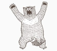 Roaring Bear (Ink) Kids Clothes
