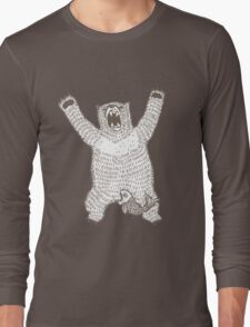 Roaring Bear (Ink) Long Sleeve T-Shirt