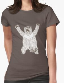 Roaring Bear (Ink) Womens Fitted T-Shirt