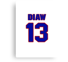Basketball player Boris Diaw jersey 13 Canvas Print