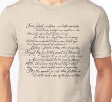 Shakespeare Sonnet No 1 Unisex T-Shirt