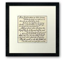 Shakespeare Sonnet No 1 Framed Print