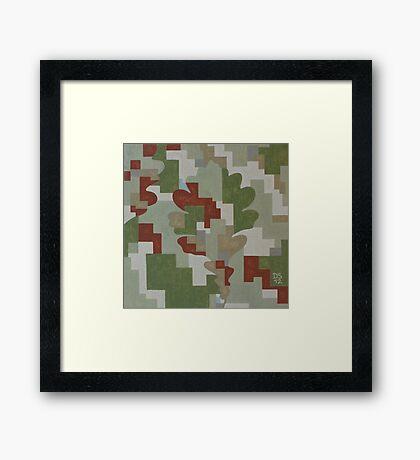 The Forest Sounds: Oak Framed Print