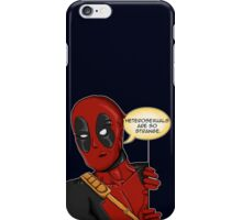 Deadpool studies nature  iPhone Case/Skin