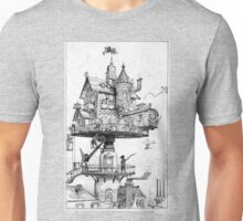 Aerial Rotating House Unisex T-Shirt