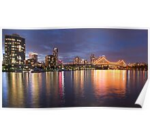 Brisbane City Night Poster