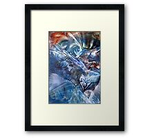 Magnetic midnight bridging worlds of time and space Framed Print