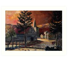 Sunset in Vresse Belgium Art Print