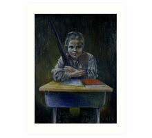 Student with a Rifle (2000) Art Print