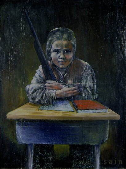 Student with a Rifle (2000) by John Martin Sain
