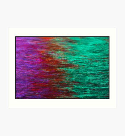 Neon Reflections in Water Art Print