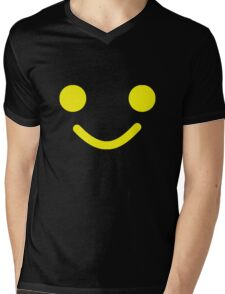 Smiling Minifig Face Mens V-Neck T-Shirt