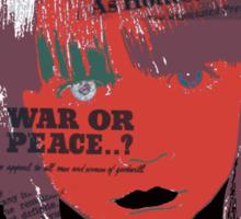 Stop the war everywhere!  Sticker