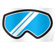 Snow goggles winter Poster