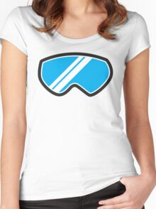 Snow goggles winter Women's Fitted Scoop T-Shirt