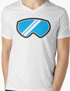 Snow goggles winter Mens V-Neck T-Shirt