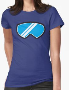 Snow goggles winter Womens Fitted T-Shirt